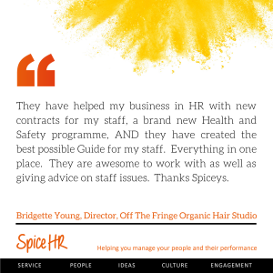 They are awesome to work with as well as giving advice on staff iddues.  Thanks Spiceys.  Bridgette Young, Director, Off the Fringe Organic Hair Studio