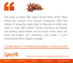 The girls at Spice HR really know their stuff!  Candice Baker, Owner, The Marketing Baker