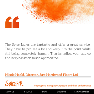 The Spice ladies are fantastic and offer a great service.  Nicole Heald, Director, Just Hardwood Floors Ltd